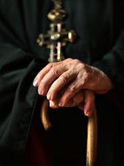 Father Nicholas Vieron, 92, who is somewhat retired