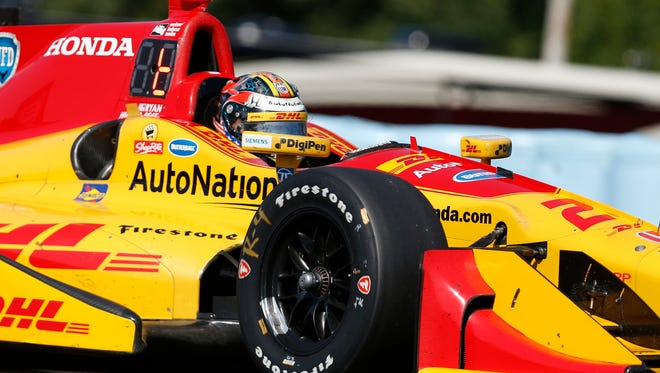 Ryan Hunter-Reay, shown here at Watkins Glen, signed a four-year extension with Andretti Autosports.