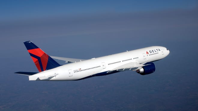 An undated photo of a Delta Air Lines Boeing 777.