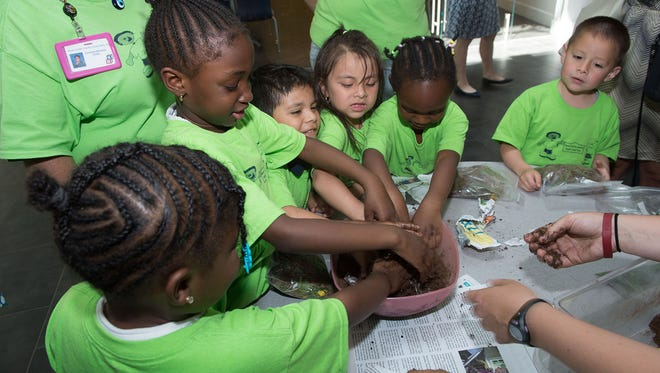 New Castle County Head Start students complete a science lesson
