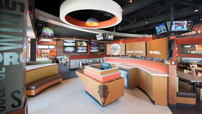 A look inside a Buffalo Wings & Rings restaurant.