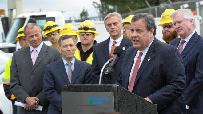 Gov. Chris Christie announces additional benefits from merger of Exelon and the parent company of Atlantic City Electric.
