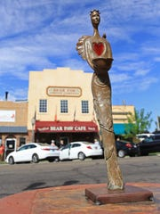 "Cheryl Collins's ""Ala"" is one of the smaller pieces in this year's Art Around the Corner exhibit in downtown St. George."