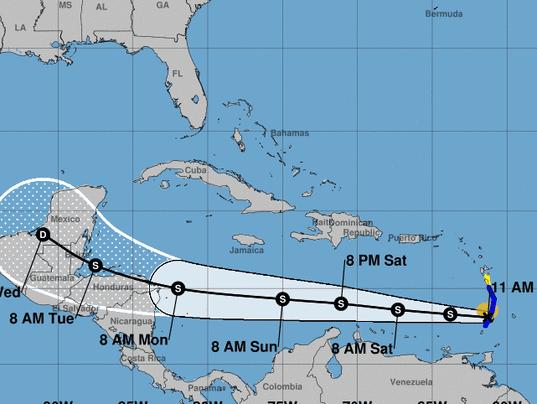 Tropical Storm Harvey Slams Caribbean Islands Heads For Central America