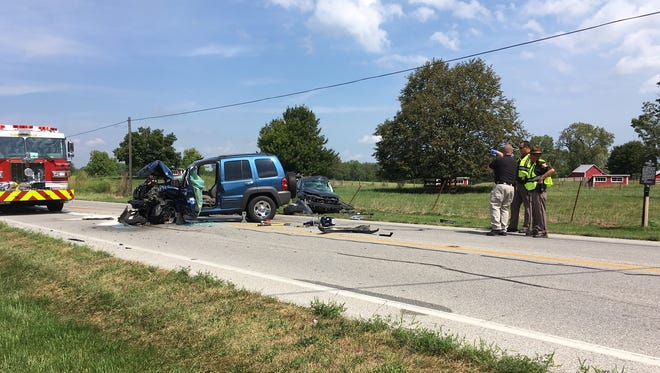 One man was killed and another injured in a two-vehicle crash on Ind. 144 on Aug. 21, 2017.