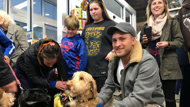 Sam Martin at Premier Pet Supply in Beverly Hills on Saturday, Oct. 28, 2017.