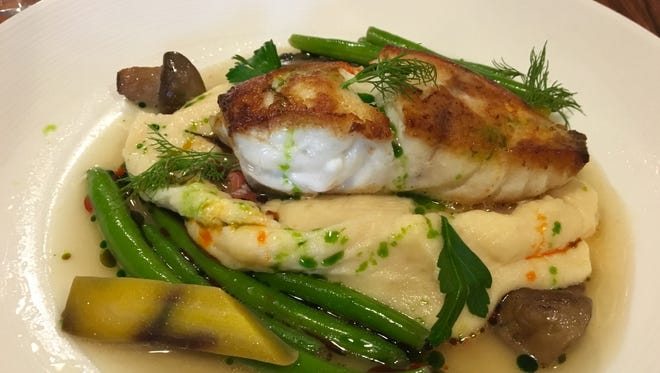 A grouper special with lobster Yukon gold potatoes and heirloom carrots from Petar's in Bonita, one of the 14 restaurants JLB loves.