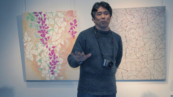 Noboru Nakamura is one of 11 Japanese artists who has traveled to Texas for an art exchange show at Midwestern State University.