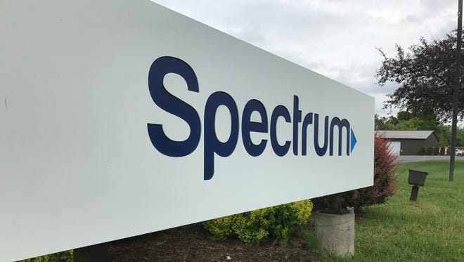 The Spectrum sign at the entrance of the company's Vestal, N.Y. offices.