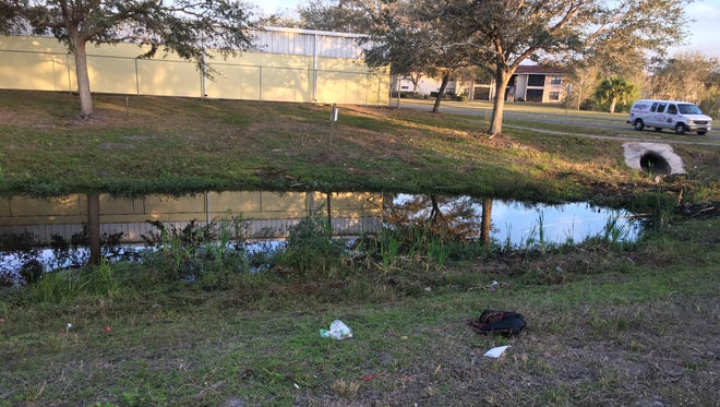 Palm Bay police found a man's body in a retention pond Wednesday off of Bass Pro Drive.