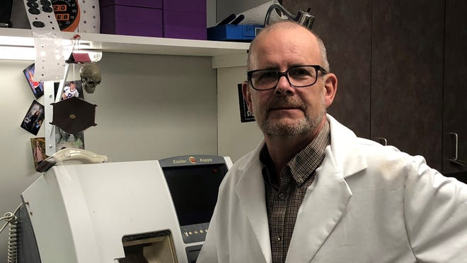 Ken Lane is an ophthalmic laboratory technician and optical lab manager at OcuSight Eye Care Center in Webster.