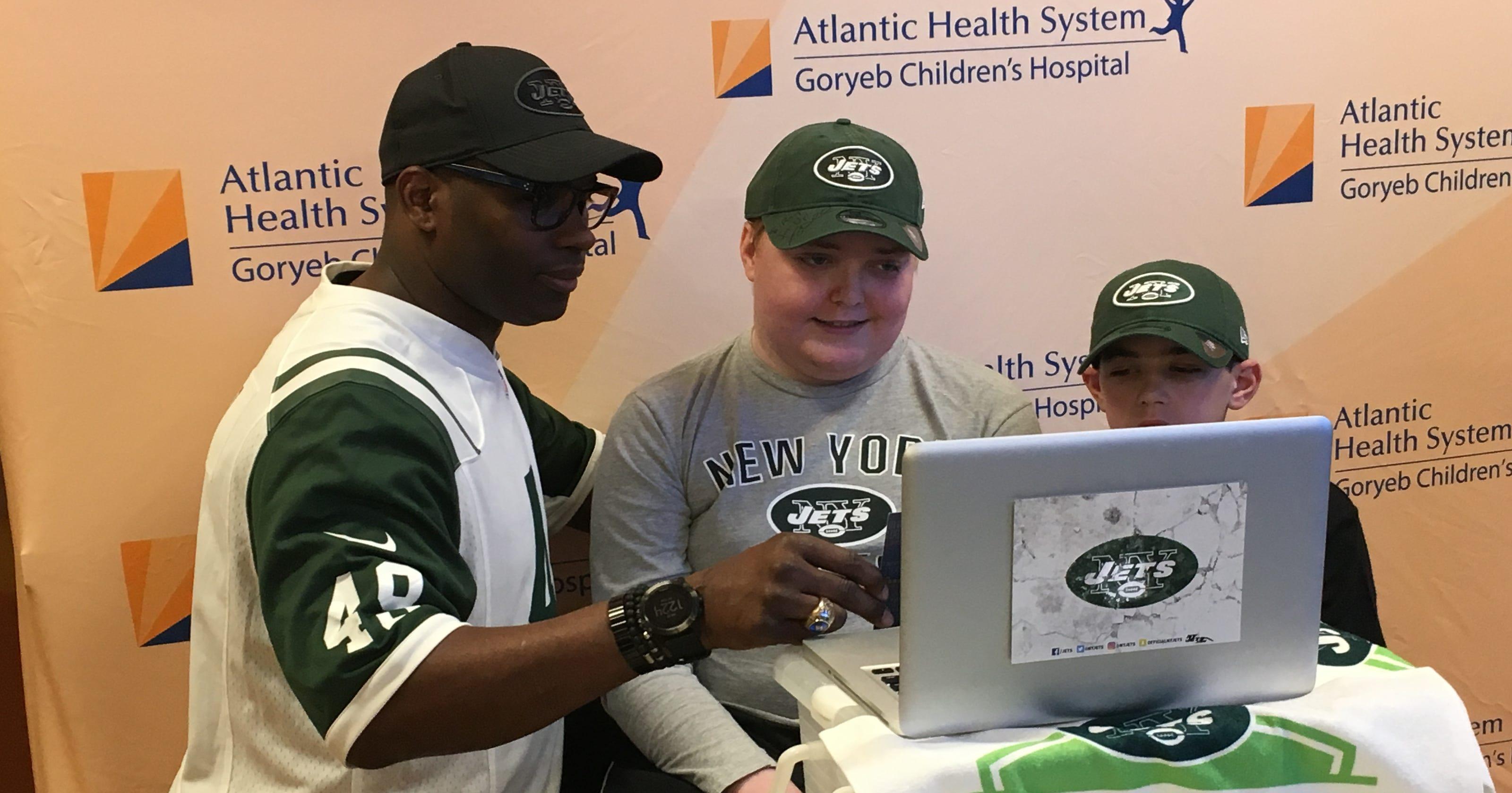 Jets Bring Nfl Draft Day To Goryeb Children S Hospital