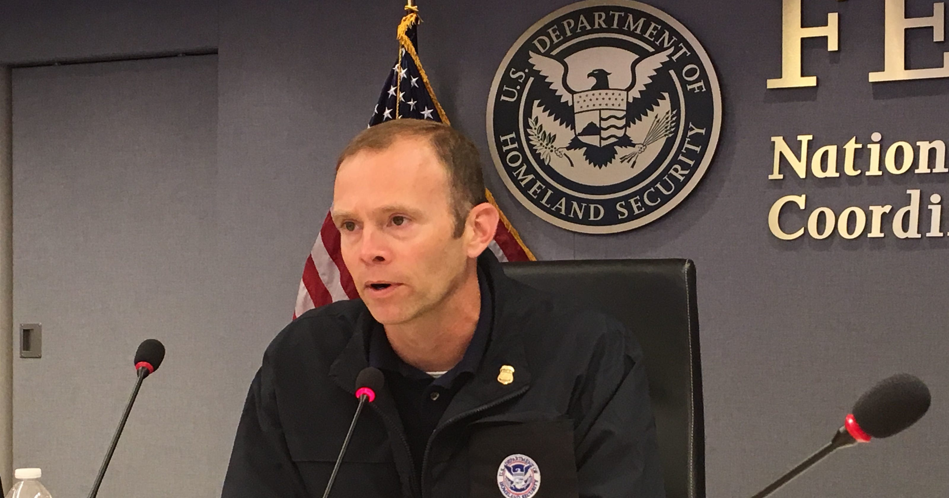 In shadow of Hurricane Maria, FEMA Chief Brock Long confronts Florence