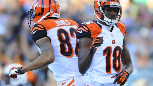 What band on tour would Marvin Jones and A.J. Green be?