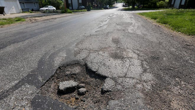Plymouth Avenue, between Beechmont Avenue and Sutton Avenue in Mt. Washington, is Cincinnati's worst road according to city documents.