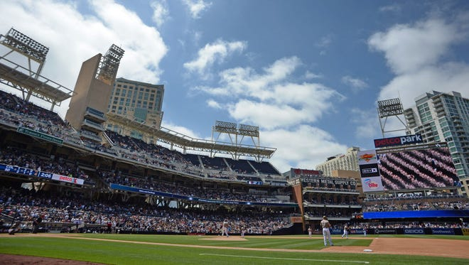 Petco Park will host a college basketball game on Dec. 5. The court will be set up lengthwise between third base and home plate. Capacity for the afternoon game is expected to be nearly 20,000.