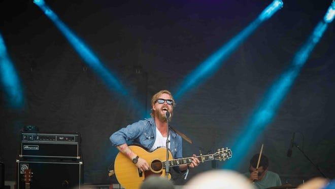 William Dobies of New Sweden performs at Firefly Music Festival last year. The band headlines Saturday night's Save the Valley benefit concert in Wilmington.