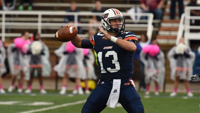 UTM senior quarterback Jarod Neal needs 221 more passing yards to move into second place on the team's all-time passing list.