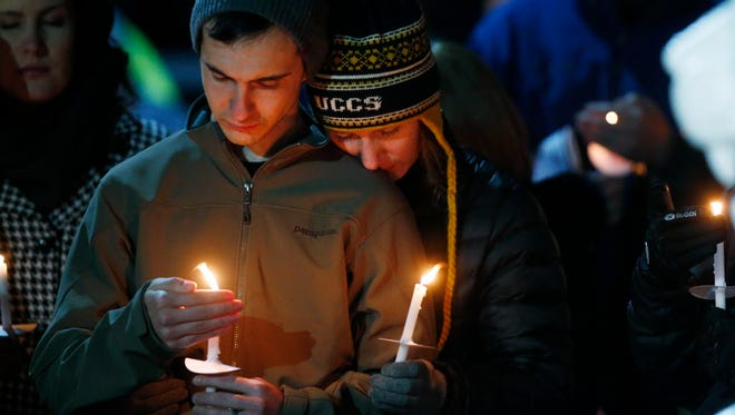 A candlelight vigil in Colorado Springs on Nov. 28, 2015.