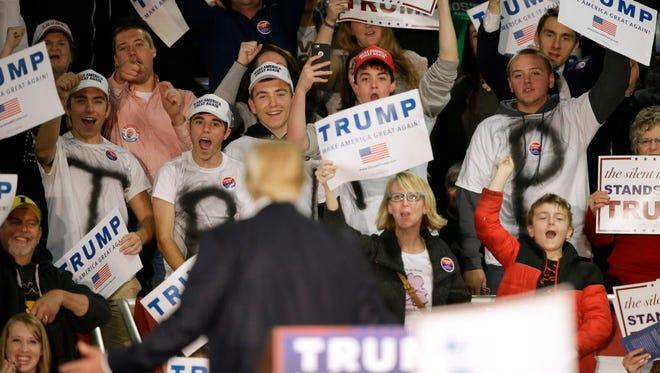 Donald Trump's rally Dec. 5, 2015, in Davenport, Iowa.