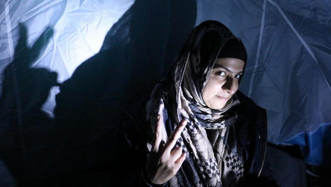 Omera in an informal refugee encampment in Lesbos, Greece.