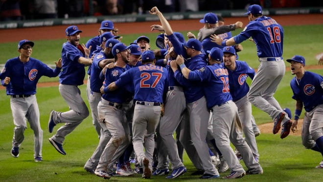The Chicago Cubs in November 2016.