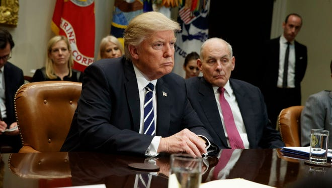 President Trump and  Homeland Security Secretary John Kelly