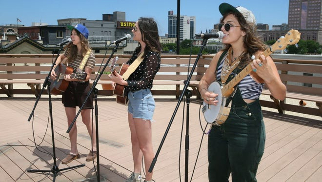 The Wild Reeds, pictured here performing a video session for the Journal Sentinel last July, returns to Milwaukee Tuesday.