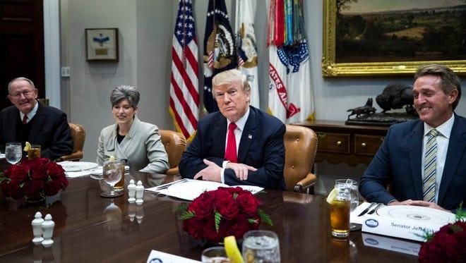 President Trump talks tax legislation on Dec. 5, 2017.