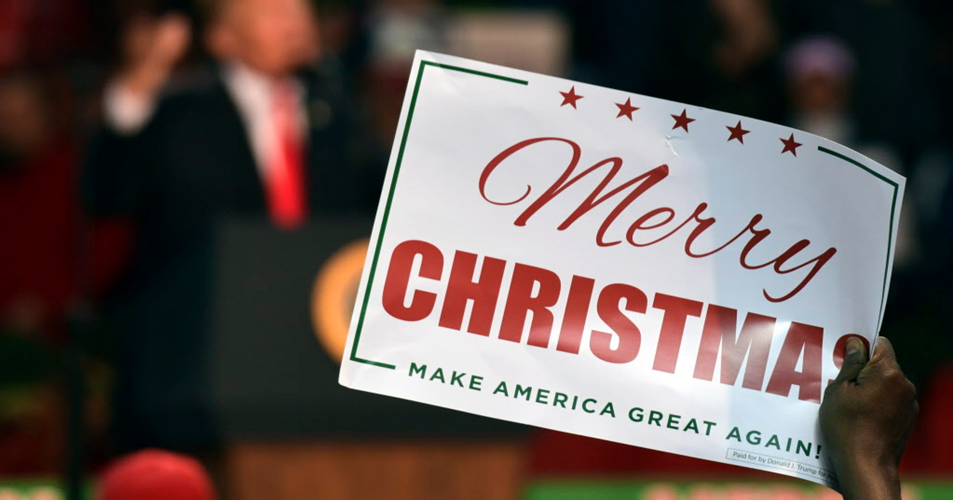 Trump\'s \'Merry Christmas\' is bigger than ever