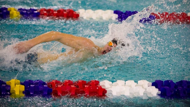 Evan Stevens of Ithaca won the 100 freestyle in a state qualifying time Saturday at the Section 4 Class A championships at Owego.