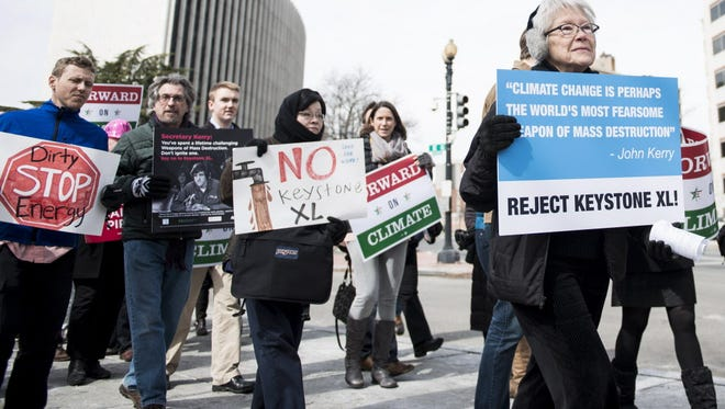 Protesters in Washington in March.