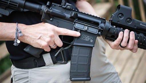 A Smith & Wesson M&P 15