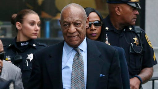 FILE - In this Nov. 1, 2016 file photo, Bill Cosby leaves after a hearing in his sexual assault case at the Montgomery County Courthouse in Norristown, Pa. Cosby expects to be cleared of a criminal sexual assault charge and restart his entertainment career, his lawyer argues in a defamation lawsuit filed against him by seven women. Attorney Angela Agrusa is urging a judge to seal documents that contain information about Cosby's negotiated compensation for his performances and other personal financial information.