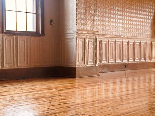 The owners refinished the hardwood floors and the original