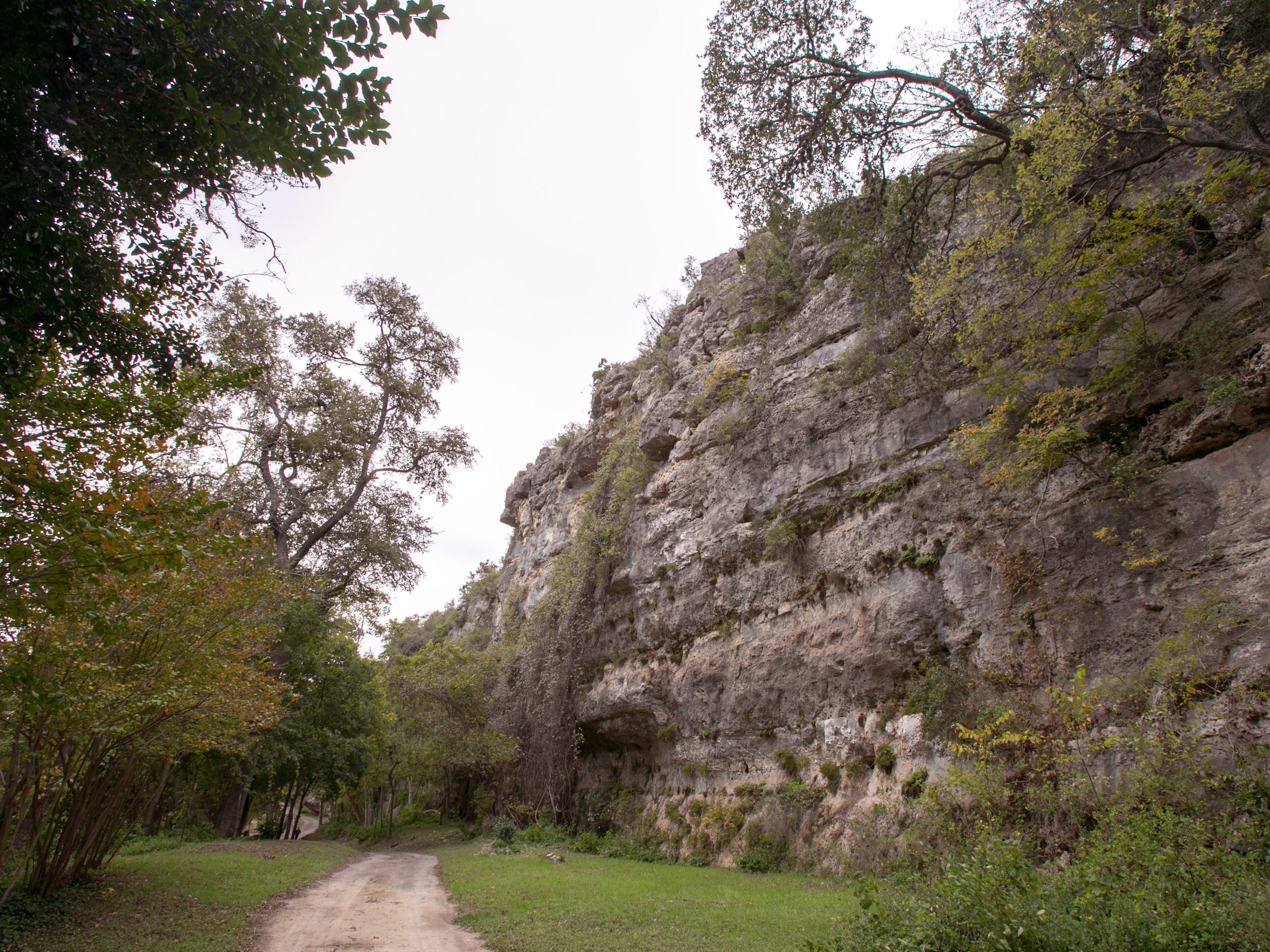 The cliff where Brad Halsey perished, which is on private property near the Guadalupe River in Texas.