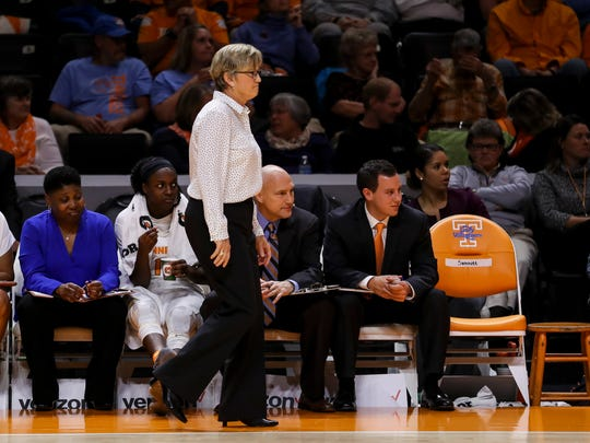 UT coach Holly Warlick left a seat on the team's bench at home games for former coach Pat Summitt.