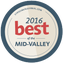 Best of the Mid-Valley 2016 logo.