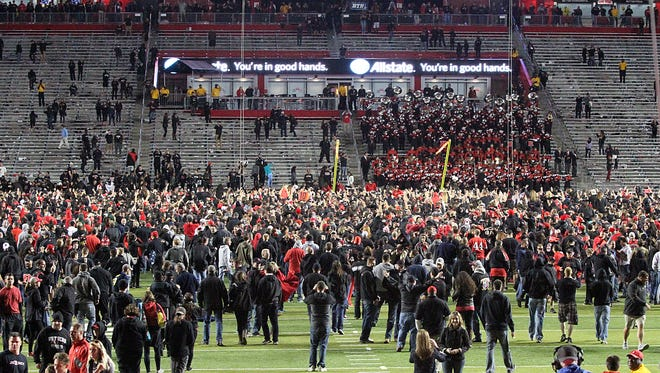Beating Michigan at home caused Rutgers football fans to storm the field and created one of the highlights of the 2014 season.