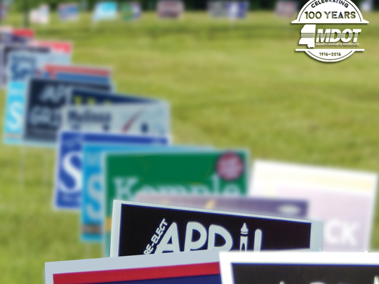 The Mississippi Department of Transportation is reminding candidates that campaign signs are not permitted in state highway rights-of-way.
