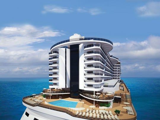 MSC Seaside will have a distinctive, Miami Beach condo-like