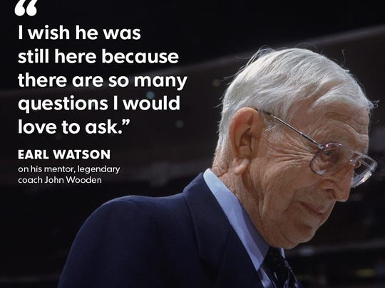 Suns Coach Earl Watson's relationship with legendary coach John Wooden colors Watson's outlook on life to this day.