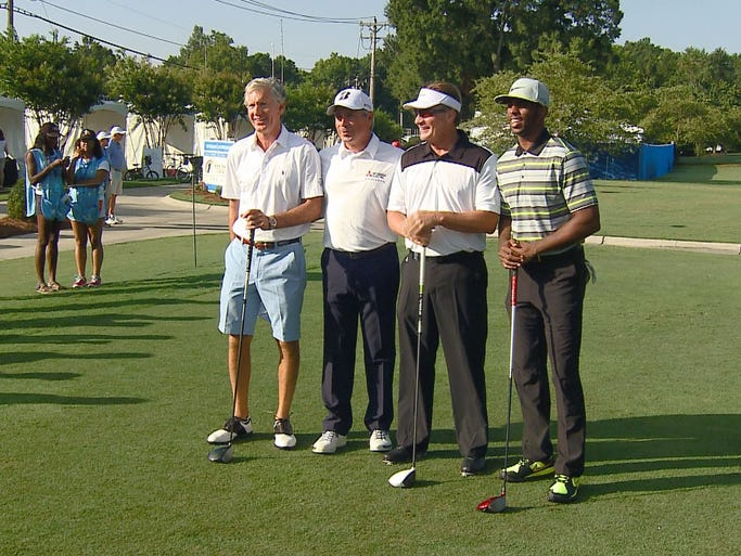 The New Breed Logistics Pro-Am was held Wednesday at Sedgefield Country Club, ahead of tournament play for the 75th Wyndham Championship. Professional golfer Fred Couples, NBA Star and former Wake Forest player Chris Paul, Governor Pat McCrory and Senator Richard Burr were among some of the golfers that hit greens for the Pro-Am.