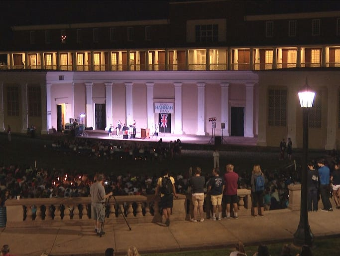 Of virginia community gathered for a vigil for missing student