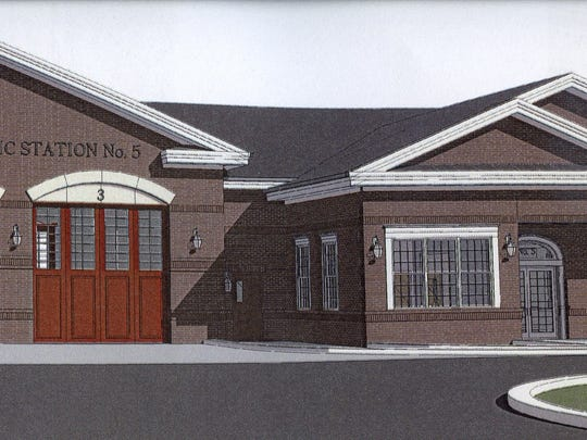 A rendering shows the planned paramedic station in Odessa. New Castle County is buying property near Boyds Corner and designing a facility similar to the designed Odessa station after plans to locate the station in the town fell apart.