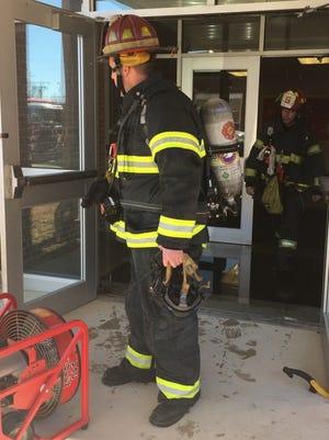 A sprinkler activation at Veterans Memorial Intermediate School on Jan. 2, 2018 flooded a corridor.