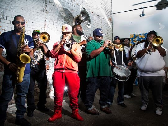 The Hot 8 Brass Band plays at The Dip on June 1.