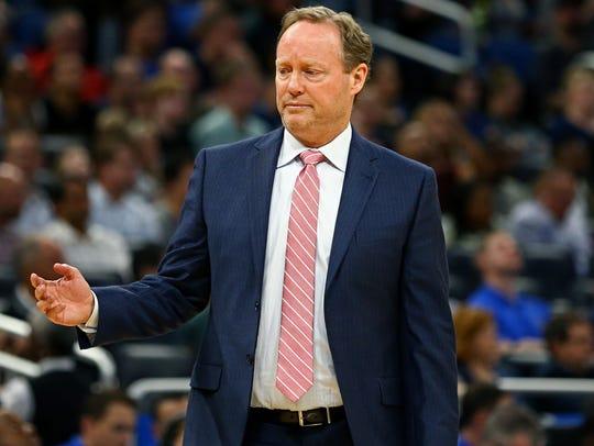 Feb 8, 2018; Orlando, FL, USA; Atlanta Hawks head coach