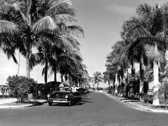 This 1951 photo of the Fort Myers Yacht Basin was taken