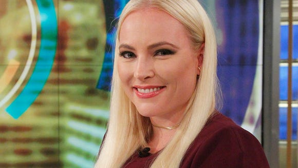 "Meghan McCain on the set of the ABC show ""The View,"""